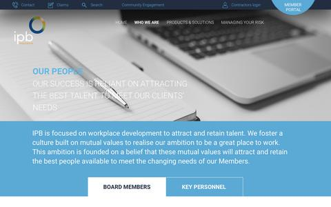 Screenshot of Team Page ipb.ie - Board members Archives - IPB Insurance - captured Oct. 4, 2017