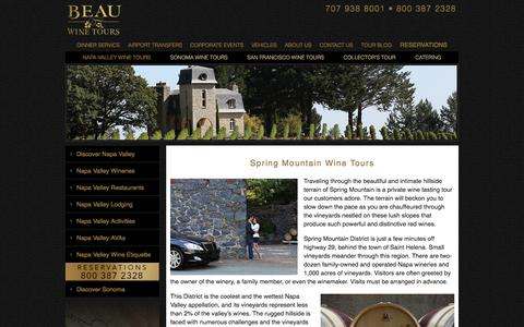Spring Mountain Wine Tours - Private Wine Tasting - Limousine Tour