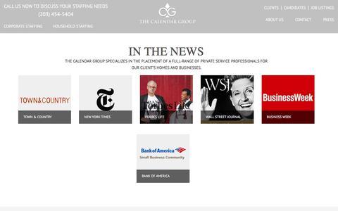 Screenshot of Press Page thecalendargroup.com - Press | The Calendar Group - captured Sept. 20, 2018