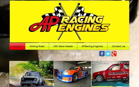 Screenshot of Home Page apracingengines.co.uk - AP Racing Engines Ltd. Race Engines and Rolling Road, Nottingham - captured Oct. 4, 2014