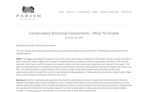 Blog Ń Parish Conservatories | Custom Conservatories | Orangeries | Sunrooms | Skylights | Shades | Bespoke | Home Design | Fairfield CT