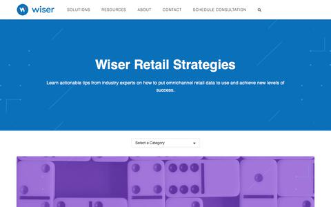 Wiser Retail Strategies   The Official Wiser Blog