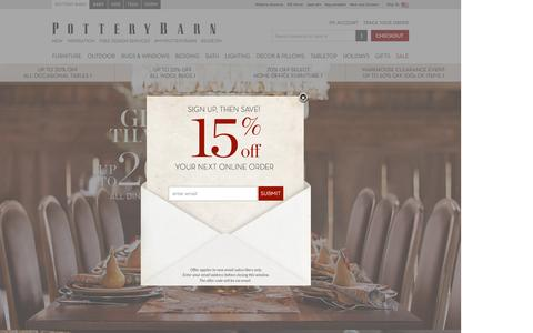 Screenshot of Home Page potterybarn.com - Home Furnishings, Home Decor, Outdoor Furniture & Modern Furniture | Pottery Barn - captured Oct. 1, 2015