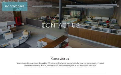 Screenshot of Contact Page encompaskc.com - Contact — encompas - captured Sept. 20, 2017