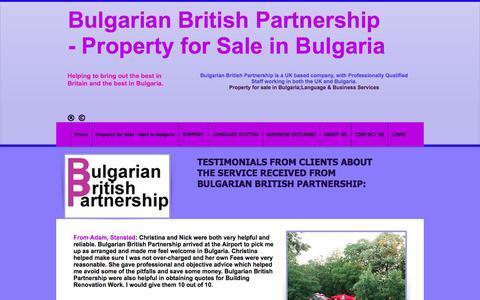 Screenshot of Testimonials Page bulgarianbritishpartnership.co.uk - Testimonials for Bulgarian British Partnership - captured June 3, 2017