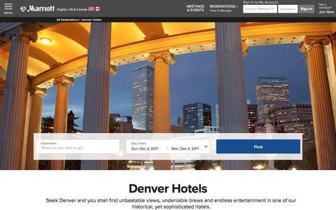 Top Hotels in Denver | Marriott Denver Hotels
