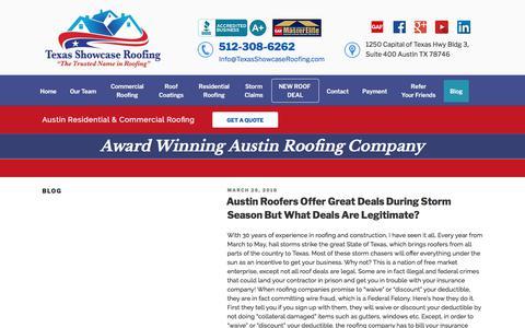 Screenshot of Blog texasshowcaseroofing.com - Blog | Texas Showcase Roofing - captured Sept. 21, 2018