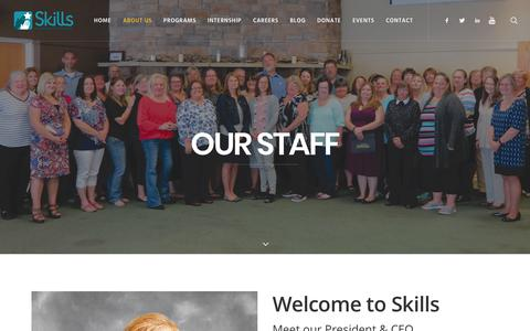 Screenshot of Team Page skillsofcentralpa.org - Senior Management Team - Skills of Central PA - captured Oct. 2, 2018