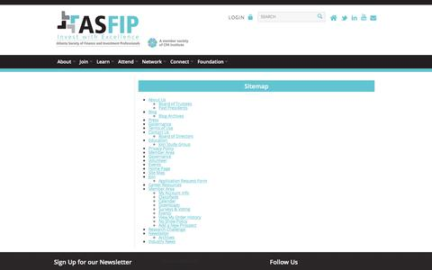 Screenshot of Site Map Page asfip.org - Atlanta Society of Finance And Investment Professionals - Sitemap - captured Feb. 6, 2016