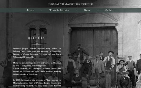 Screenshot of Team Page prieur.com - Estate - Team - Jacques Prieur - captured Oct. 9, 2018