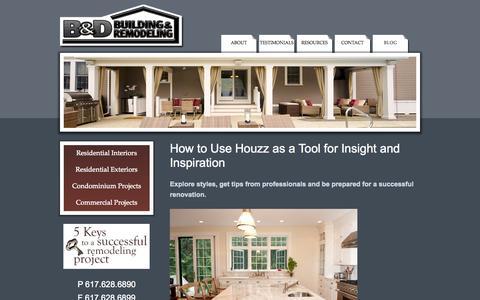 Screenshot of Blog bdbuild.com - Blog    Residential Interiors & Exteriors, Condominiums, Commercial Construction   B&D Building & Remodeling   Residential Interiors & Exteriors, Condominiums, Commercial Construction - captured Oct. 2, 2014