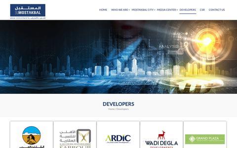 Screenshot of Developers Page mostakbal-re.com - Developers – Mostakbal - captured Sept. 27, 2018