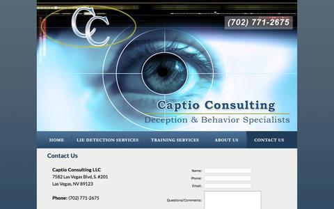 Screenshot of Contact Page captioconsulting.com - Captio Consulting - captured Jan. 25, 2016