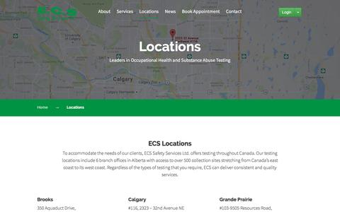 Screenshot of Locations Page ecssafety.com - Locations – ECS Safety Service - captured Oct. 5, 2016