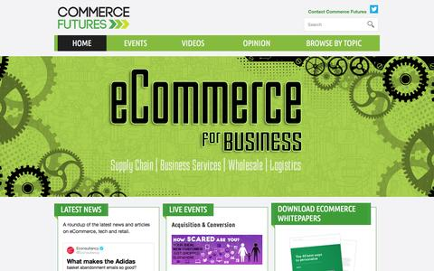 Screenshot of Home Page commerce-futures.com - Commerce Futures - captured Jan. 26, 2015
