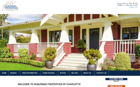 Screenshot of Home Page jennifermanchester.com - Mint Hill  homes for sale, Matthews NC homes for sale, Charlotte homes for sale, Home Staging - captured Aug. 19, 2019