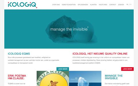 Screenshot of Home Page Privacy Page Site Map Page icologiq.nl - iCOLOGiQ - NL - captured Sept. 30, 2014