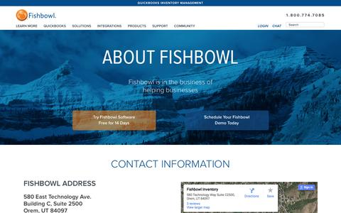 Screenshot of About Page Contact Page fishbowlinventory.com - About Fishbowl | Fishbowl Inventory - captured Feb. 10, 2016