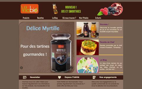 Screenshot of Home Page vitabio.fr - Produits bio pour adultes : Vitabio - captured Sept. 22, 2014