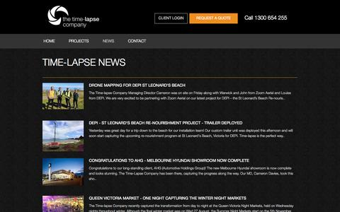Screenshot of Press Page thetimelapsecompany.com - Construction Time Lapse | Timelapse | Mining Time Lapse | Time-Lapse - captured Oct. 9, 2014