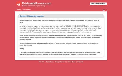 Screenshot of Contact Page bridesandlovers.com - Contact Bridesandlovers.com - captured Sept. 23, 2018