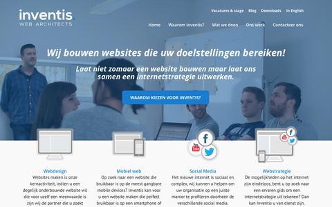 Screenshot of Home Page inventis.be - Webdesign Inventis - captured Jan. 9, 2016