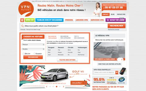 Screenshot of Home Page vpn-autos.fr - Sur VPN Autos l'occasion et le pratiquement neuf sont à prix mandataire ! - captured June 27, 2018