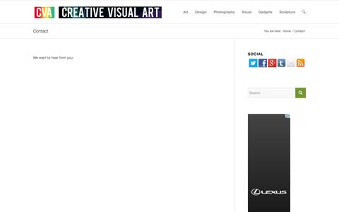 Screenshot of Contact Page creativevisualart.com - Creative Visual Art |   Contact - captured Oct. 3, 2014