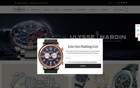 Screenshot of Home Page Terms Page maddalonijewelers.com - Fine Jewelry & Watches Long Island | Maddaloni Jewelers - captured Oct. 2, 2018