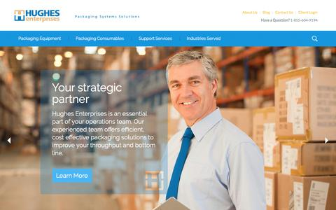 Screenshot of Home Page hughesent.com - Hughes Enterprises | Leading Packaging Solutions Provider - captured Aug. 31, 2017