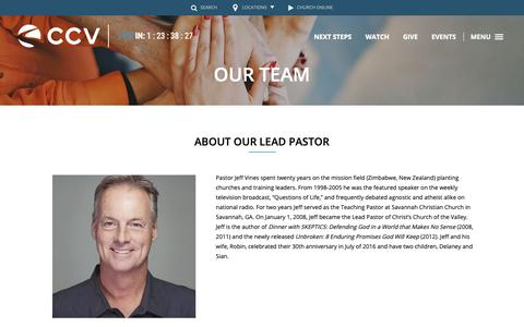 Screenshot of Team Page ccvsocal.com - Our Team | Christ's Church of the Valley - captured Sept. 28, 2018