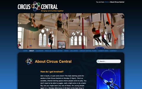 Screenshot of About Page circuscentral.co.uk - About Circus Central | Circus Central - captured Oct. 2, 2014