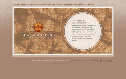 Screenshot of Home Page chukventures.com - Chukchansi Inc. - captured Oct. 2, 2014