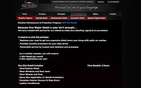 Screenshot of Pricing Page magicdetailings.com - Pricing - captured Oct. 4, 2014