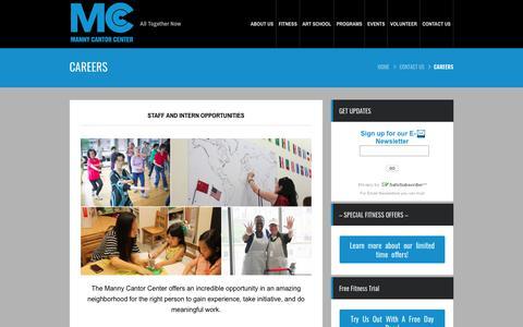 Screenshot of Jobs Page mannycantor.org - Careers - captured June 8, 2018