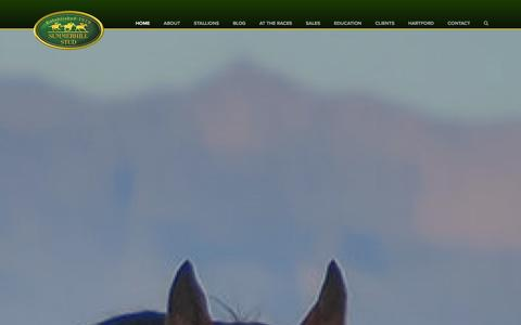 Screenshot of Home Page summerhill.co.za - Summerhill Stud - captured Jan. 15, 2016