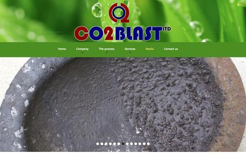 Screenshot of Press Page co2blastingservices.com - Media - captured Sept. 28, 2018