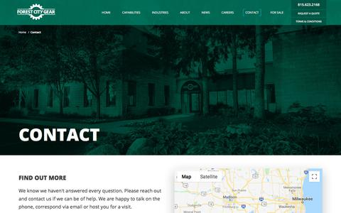 Screenshot of Contact Page forestcitygear.com - Contact | Forest City Gear - captured Aug. 19, 2018