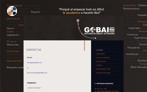 Screenshot of Contact Page wordpress.com - CONTACT US | GOBAI689 - captured Sept. 12, 2014