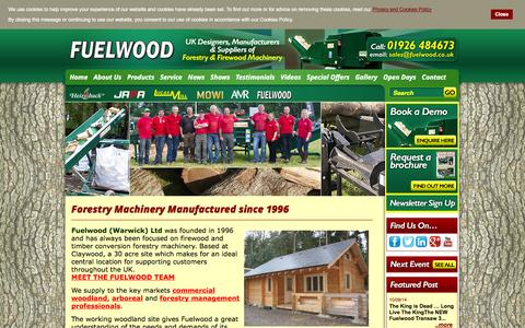 Screenshot of About Page fuelwood.co.uk - Forestry Machinery Manufactured since 1996 - captured Oct. 6, 2014