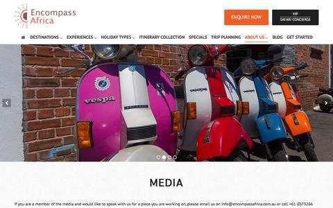 Screenshot of Press Page encompassafrica.com.au - Media | Encompass Africa - captured Dec. 10, 2015