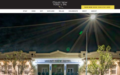 Screenshot of About Page mountviewhotel.com - About the Mount View Hotel - Mount View Hotel and Spa - captured Oct. 20, 2018