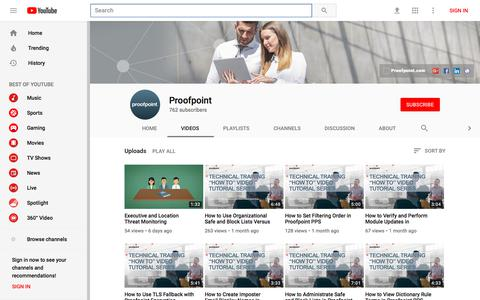 Proofpoint - YouTube - YouTube
