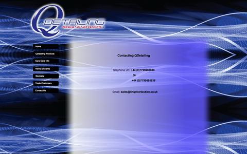 Screenshot of Contact Page qdetailing.co.uk - Contact Us - captured Oct. 1, 2014