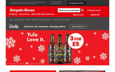 Screenshot of Home Page bargainbooze.co.uk - Bargain Booze Off Licences & Convenience Stores - captured Dec. 12, 2018