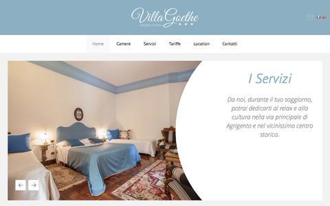 Screenshot of Home Page villagoethe.it - B&B Agrigento Villa Goethe - captured May 31, 2016
