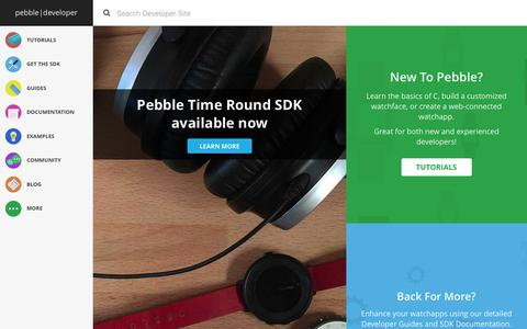 Screenshot of Developers Page pebble.com - Pebble Developers - captured Feb. 2, 2016