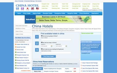 Screenshot of Home Page vhotel.org - Hotels in China and China Hotel Reservations - China Hotels - captured Sept. 6, 2015