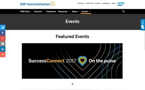 Events             | SuccessFactors