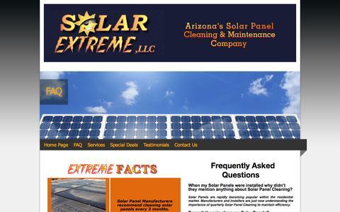 Screenshot of FAQ Page solarextreme.org - FAQ - captured Oct. 9, 2014